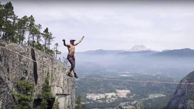 Spencer Seabrooke, the guy who walked the line 290 metres off the ground in Squamish two summers ago without a safety harness - fall off and die.