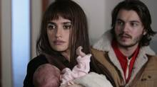 "Penelope Cruz and Emile Hirsch in a scene from ""Twice Born"""