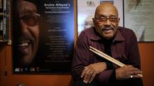 Jazz percussionist, Archie Alleyne, 79, is photographed in his Toronto home on Dec. 28, 2011. (Fred Lum/The Globe and Mail)