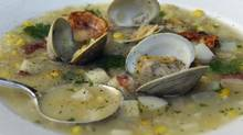 Corn and clam chowder is a good way to to use the last of the fresh summer harvest. (Fred Lum/The Globe and Mail)