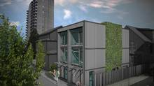 Laneway housing is seen in an artist's rendering. Vancouver has allowed laneway houses for several years. But the recent revamp of the West End plan allows developers to build laneway apartment buildings in this dense area of the city.