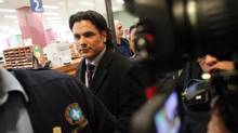 Senator Patrick Brazeau leaves a courthouse in Gatineau, Que., on Feb. 8, 2013. (DAVE CHAN FOR THE GLOBE AND MAIL)