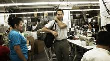 Dov Charney in the company's Los Angeles factory (Emily Shur)