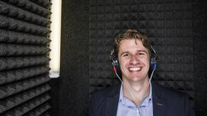 Michael Chrostowski, co-founder of Hamilton-based Sound Options, which has developed a software-based tinnitus therapy, is in the sound booth at the The Voice Clinic in Toronto.