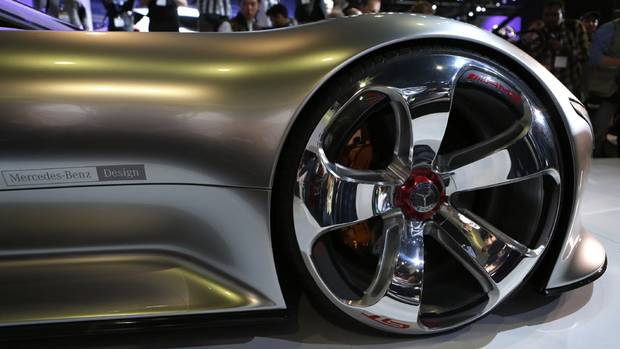 Mercedes-Benz AMG Vision Gran Turismo concept car (MIKE BLAKE/REUTERS)