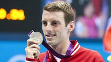 Canada's Ryan Cochrane wins the silver medal for 1500m freestyle at the 2012 Sumer Olympics in London, England Aug. 4/2012. (Kevin Van Paassen/The Globe and Mail)