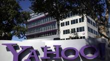 This Wednesday, Oct. 17, 2012, photo, shows a sign in front of Yahoo! headquarters in Sunnyvale, Calif. (Marcio Jose Sanchez/The Associated Press)