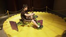 In this April 11, 2011 photo, a boy rides a square wheel tricycle at a math exhibit at the Museum of Nature & Science at Fair Park in Dallas. Glen Whitney, a former hedge-fund is planning to open the only museum in the United States dedicated to mathematics. MoMath, which will centre on the wonders of mathematics and its connections with art, science and finance, has open in New York. (LM Otero/The Associated Press)