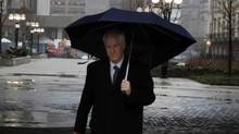 Former Nortel CEO Frank Dunn leaves the University Ave. Court House in Toronto, Jan. 12, 2012. Mr. Dunn and two other former Nortel executives are accused of manipulating financial statements (Fernando Morales/The Globe and Mail)