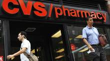 Shares of U.S. drugstore chain CVS Caremark Corp. are a relative bargain compared with Canada's Shoppers Drug Mart and Jean Coutu. (Mike Segar/REUTERS)