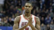 Chris Bosh was dealing with more than one blood clot earlier this year, and said Wednesday, Sept. 21, 2016, that he felt written off when Miami Heat team doctors advised him that the situation would likely be career-ending. (LM Otero/AP)