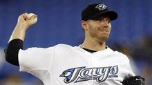 Toronto Blue Jays pitcher Roy Halladay throws against the Tampa Bay Rays. (MIKE CASSESE)