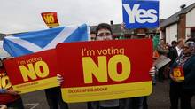 With recent polls showing the Yes side taking a narrow lead, Scottish referendum day will be marked on calendars in many parts of the world, including Canada. (RUSSELL CHEYNE/Reuters)