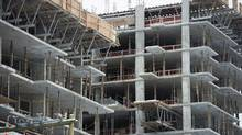 New condo buildings are shown under construction in downtown Vancouver, Wednesday, Feb. 8, 2017. (JONATHAN HAYWARD/THE CANADIAN PRESS)