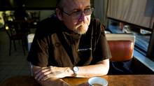 Steve Dembicky, who suffers from diabetes, sits in a coffee shop near his Mississauga, Ont., apartment on Dec. 6, 2009. (Darren Calabrese)