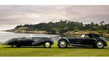 Magificent old coachwork on display in a beautiful setting. (Kimball Studios/Pebble Beach Concours d'Elegance)