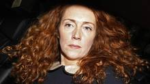 Former News International chief executive Rebekah Brooks leaves after giving evidence to the Leveson Inquiry into the ethics and practices of the media at the High Court in central London in this May 11, 2012 file photo. (STEFAN WERMUTH/REUTERS/STEFAN WERMUTH/REUTERS)