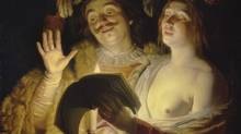 A detail from Gerrit van Honthorst's The Duet (1623-24). Last year the Montreal Museum of Fine Arts returned the painting to the heirs of Jewish art collector Bruno Spiro, from whom it had been confiscated by the Nazis.