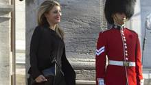 The newly sworn-in Minister of Heritage Melanie Joly leaves Rideau Hall in Ottawa on Wednesday, Nov. 4, 2015. (Sean Kilpatrick/THE CANADIAN PRESS)