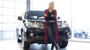 Candice Olson with her Lexus GX 460 SUV.