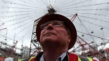 B.C Pavilion Corporation Chair David Podmore looks up at renovations continuing on the roof of B.C. Place Stadium in Vancouver, B.C., on Wednesday March 2, 2011. (Darryl Dyck/The Canadian Press/Darryl Dyck/The Canadian Press)