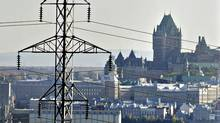 Power lines are shown in Quebec City on Sept. 27, 2006. (JACQUES BOISSINOT/CP)
