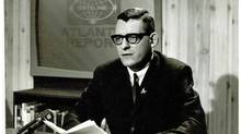 An undated photograph of broadcaster Bill Ozard making a presentation on a current-affairs program on Halifax station CJCH-TV. (Photo courtesy of Tanya Ozard)