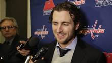 A drug charge against Washington Capitals forward Mike Richards was stayed Wednesday in a Manitoba court, his agent and lawyer said in a statement. (Frank Franklin II/THE ASSOCIATED PRESS)
