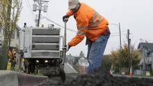Infrastructure projects are one component of the CPPIB's investment portfolio. (Ted S. Warren/The Associated Press)