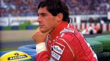 "Ayrton Senna in a scene from the documentary ""Senna"""