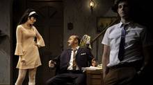 "Cara Gee, Cliff Saunders and Matthew Edison in Tarragon Theatre's ""The Real World"" (Cylla von Tiedemann)"