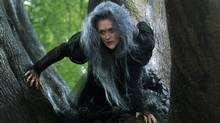 Meryl Streep, as a witch, heads a star-packed cast in Disney's Into the Woods, an adaptation of a Stephen Sondheim and James Lapine musical. (Peter Mountain/Disney)