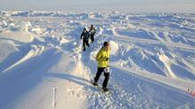 Conditions make it unlikely that anyone will run a personal best at the North Pole Marathon. (Mike King)