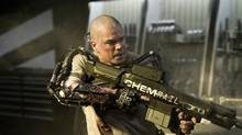 Elysium is the second feature-length science fiction effort of Neil Blomkamp, who also directed the 2009 hit, District 9. Elysium. Matt Damon plays an Earth-dwelling guy who finds himself caught up in a fight for his life on a mission to Elysium. Jodi Foster is also featured in the film, whose character's job is to keep out those who cannot afford a spot on the pristine vessel, a.k.a Damon. In Greek mythology, Elysium is where the heroes and relatives of the gods hung out in total paradise, while everyone else was left in the equivalent of Hades or hell. (Handout)