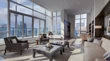 Looking out from this unit is about as close to getting a bird's eye view of downtown as you can without getting into a helicopter. <137>Home of the Week, 33 Bay St., Toronto, suite 5201<252><137> (Photos: Pinnacle International/Pinnacle International)