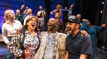 The cast of Come From Away perform a scene from the musical, which is set around the events of Sept. 11, 2001. The play may be a celebration of humanity, but it is not starry-eyed in it presentation. (Matthew Murphy)