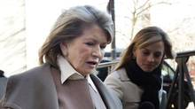 Martha Stewart arrives at court in New York, March 5, 2013. Macy's Inc. is suing the media and merchandising company Ms. Stewart founded for breaching an exclusive contract. (Seth Wenig/AP)