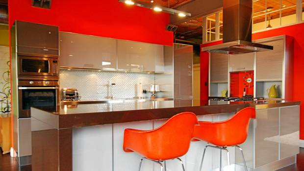 Home of the week former toronto factory goes glam loft for Scavolini kitchens toronto