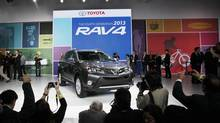 The Toyota plant in Woodstock, Ont., will add 400 employees to boost production of its RAV4 crossover utility vehicles. (MARIO ANZUONI/REUTERS)