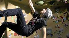 Griffin Reichl, 14, who has been climbing for 4 years is seen here at Cliffhangers in Vancouver March 8, 2011. Cliffhangers offers a kids program over the March break. (John Lehmann/The Globe and Mail/John Lehmann/The Globe and Mail)