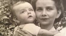 Betty Barban with son Gregory, Honolulu, en route to Nfld., 1947. (HANDOUT)