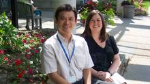 Gordon Chan and Melanie Davidson, medical physicists at Sunnybrook Health Sciences Centre's Odette Cancer Centre, have recently started treating cancer patients with volumetric modulated arc therapy, or VMAT. (Odette Cancer Centre/Odette Cancer Centre)