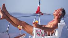 retirement man yacht suntanning boat (photos.com) (© 2010 Photos.com, a division of Getty Images. All rights reserved.)