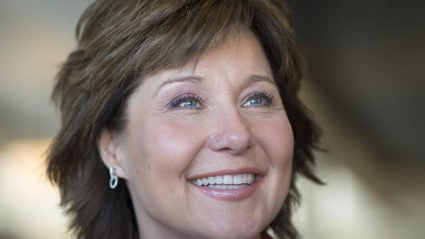 The testy exchange B.C. Liberal Leader Christy Clark had with a voter sparked a social media firestorm. (JONATHAN HAYWARD/THE CANADIAN PRESS)