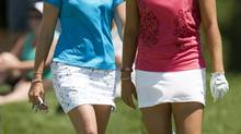 Paula Creamer and Lexi Thompson