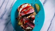 (James Tse for The Globe and Mail/Oval aqua salad plate, $7.95 at CB2 (www.cb2.com).)