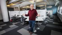 Paul Barter, vice-president of research for T4G, doesn't mind if the tech company's spiffy office is sometimes deserted. 'As long as they're providing what it takes to be successful, who cares where it is they do their work?' (JENNIFER ROBERTS FOR THE GLOBE AND MAIL)