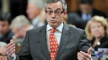 Treasury Board President Tony Clement speaks in the House of Commons on Dec. 1, 2011. (Sean Kilpatrick/Sean Kilpatrick/The Canadian Press)