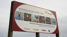 With the 2015 Pan/ParaPan American Games three years away, construction of the athletes' village has been underway on the West Donlands area of Toronto. (Fred Lum/FRED LUM/THE GLOBE AND MAIL)