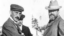 Messrs. Tate, Morse and Hays at Prince Rupert. Mr. Charles Melville Hays was president of the Grand Trunk Pacific Railway, and party during the annual inspection to the G.T.P. system, 1910. (Library and Archives Canada/Library and Archives Canada)